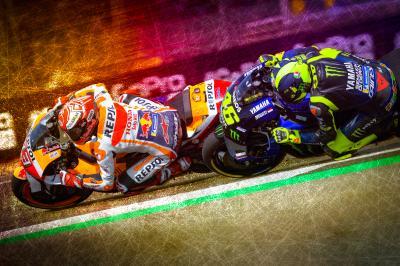 Márquez resiste ante Rossi para conquistar la 'pole'