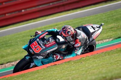 Quartararo breaks lap record again to beat Rossi to top spot