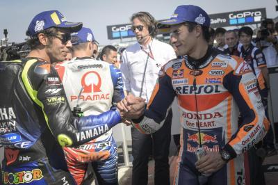 """""""Rossi me ayudó un poco"""" - La reacción de la primera fila"""