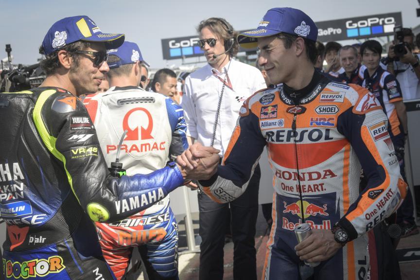 Marc Marquez, Valentino Rossi, GoPro British Grand Prix