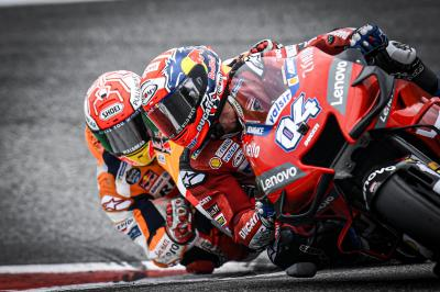 Previously in MotoGP™... Dovi vs Marquez!