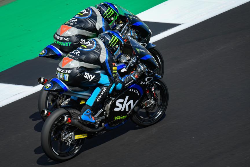 Dennis Foggia, Celestino Vietti, Sky Racing Team VR46, GoPro British Grand Prix