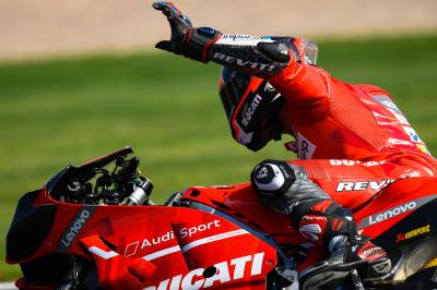 Difficult Sunday for Ducati despite promising weekend