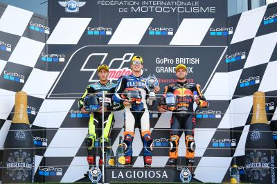 Fernandez fires to Silverstone glory as Marquez crashes out