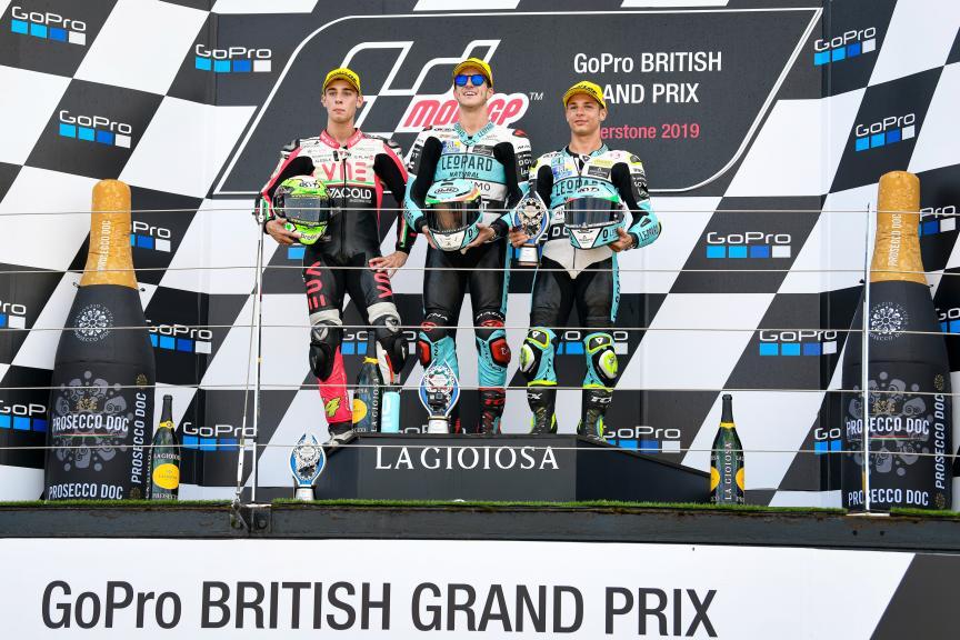 Marcos Ramirez, Tony Arbolino, Lorenzo Dalla Porta, GoPro British Grand Prix