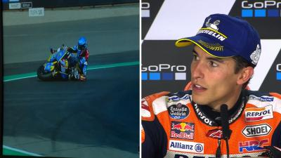 The moment Marc Marquez realised his brother had crashed