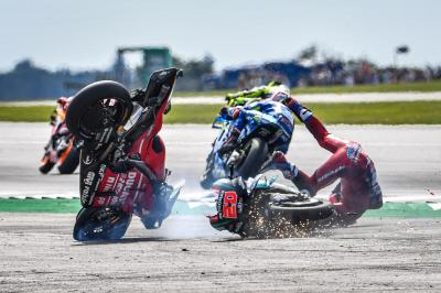 Quartararo & Tardozzi talk us through that Silverstone crash