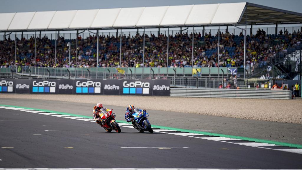 TC_Alex Rins, Team Suzuki Ecstar. Marc Marquez, Repsol Honda - BritishGP