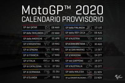 Calendario Luglio 2007.Tutti I Gp Del 2020 Motogp