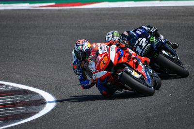 Miller leads teammate Bagnaia at midday on Day 2