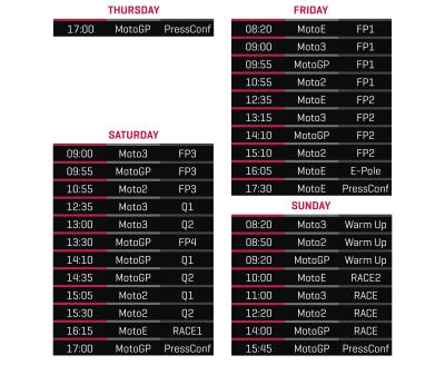 Calendario Motogp 2020 Orario.Gli Orari Del Gp Di San Marino Motogp