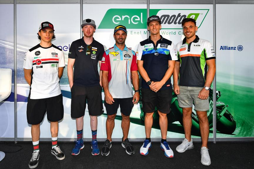 MotoE Talk show riders + managers