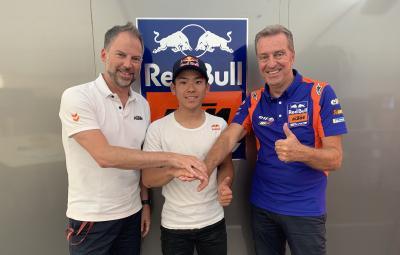 Sasaki, la primera piedra de Red Bull KTM Tech3 en Moto3™