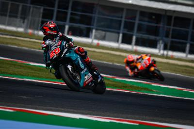 Why was Marquez following his foes on Free Practice Friday?