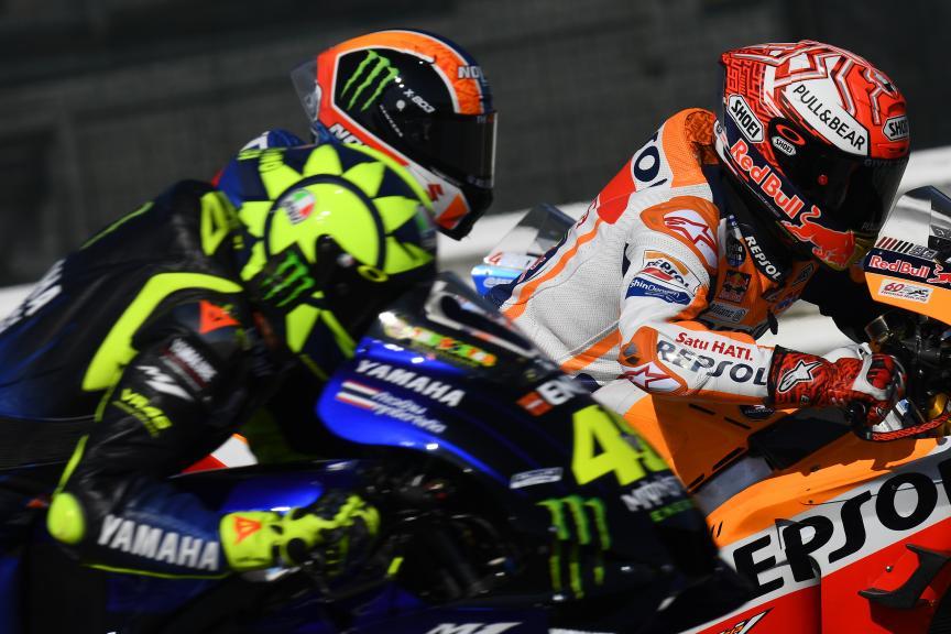 Valentino Rossi, Alex Rins, Marc Marquez, Gran Premio Octo di San Marino e della Riviera di Rimini