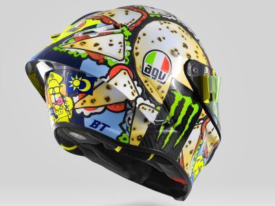 Classic Design Italia San Marino.Rossi Unveils 2019 Misano Helmet Motogp