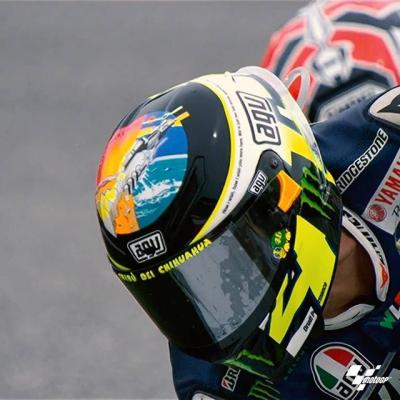 Waiting for @valeyellow46's #SanMarinoGP special helmet // What will the