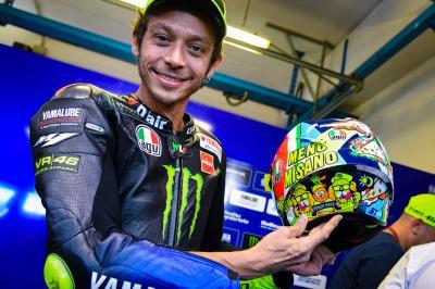 Rossi desvela el diseño de su casco para Misano 2019