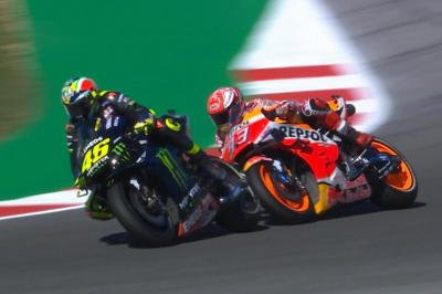 FREE: Rossi and Marquez almost clash in qualifying