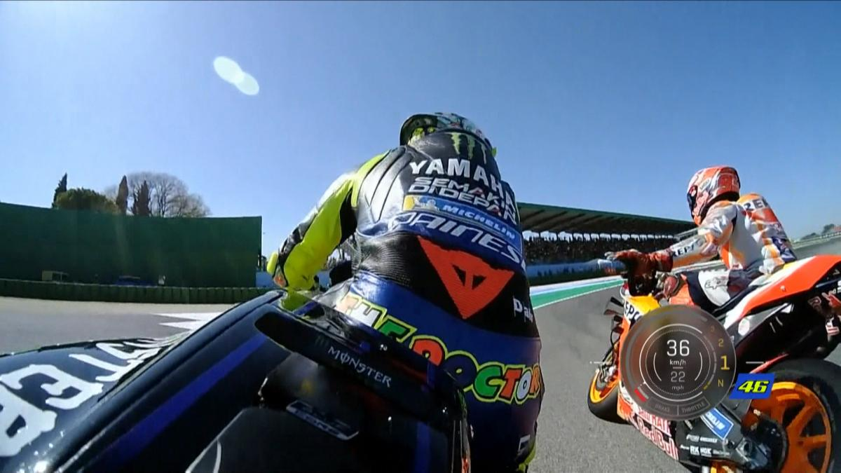 The Rossi - Marquez Q2 moment OnBoard and with telemetry
