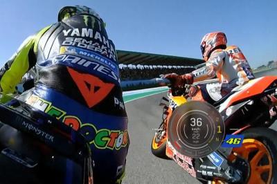 OnBoard Rossi-Marquez in Q2 con la telemetria