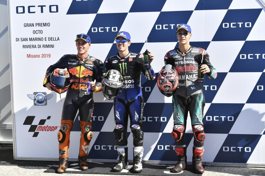 Maverick Viñales, Pol Espargaro, Fabio Quartararo, Gran Premio Octo di San Marino e della Riviera di Rimini