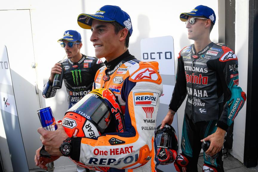 Maverick Viñales, Fabio Quartararo, Marc Marquez, Gran Premio Octo di San Marino e della Riviera di Rimini