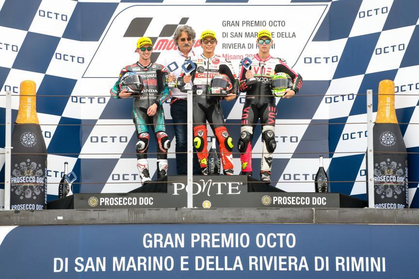 Tatsuki Suzuki, John McPhee, Tony Arbolino, Gran Premio Octo di San Marino e della Riviera di Rimini