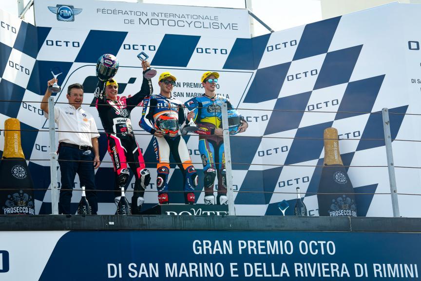 Augusto Fernandez, Fabio Di Giannantonio, Alex Marquez, Gran Premio Octo di San Marino e della Riviera di Rimini