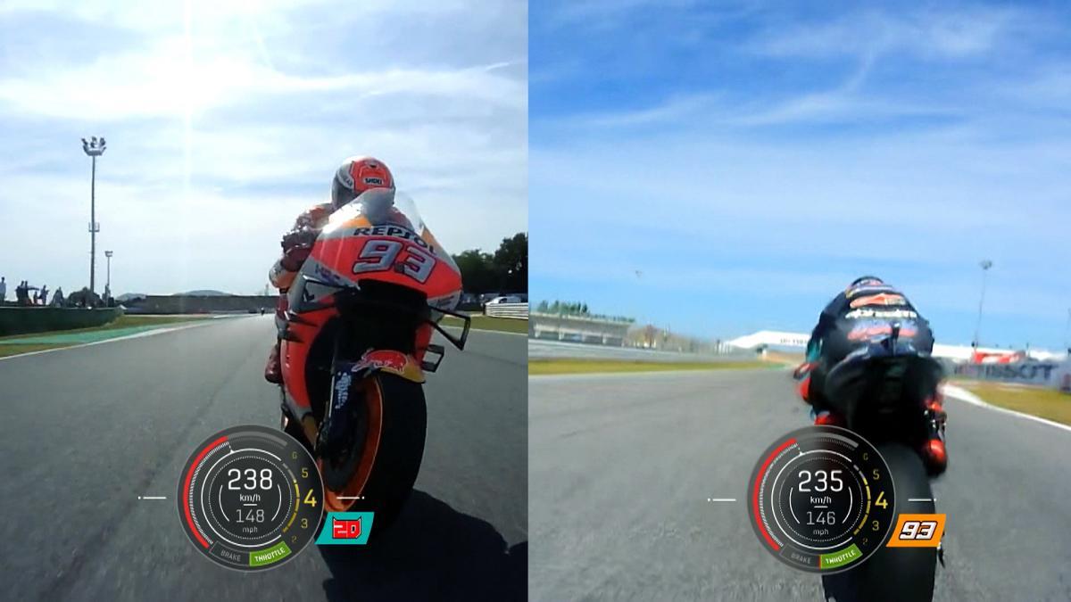 Quartararo vs Marquez: Last lap duel OnBoard with telemetry