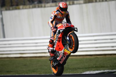 Marquez holds off Viñales and Dovizioso to set warm-up pace