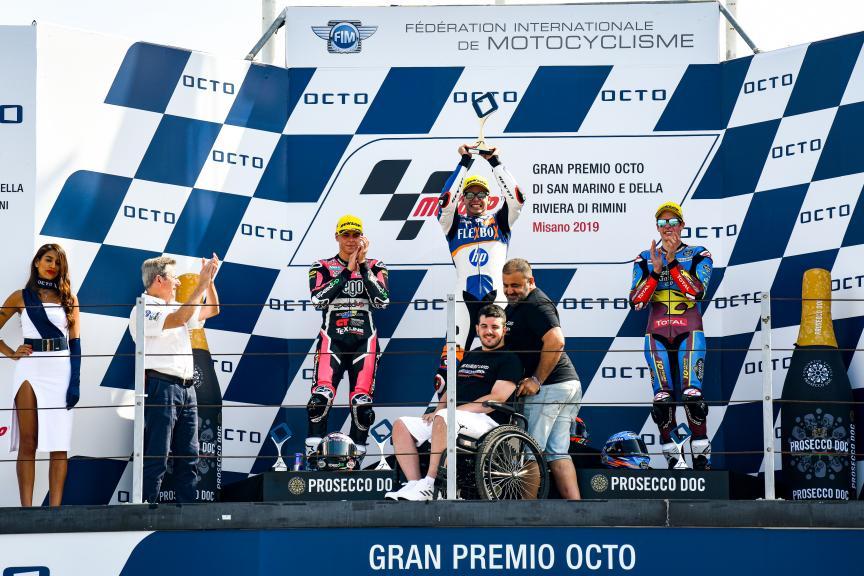 Fabio Di Giannantonio, Augusto Fernandez, Alex Marquez Gran Premio Octo di San Marino e della Riviera di Rimini