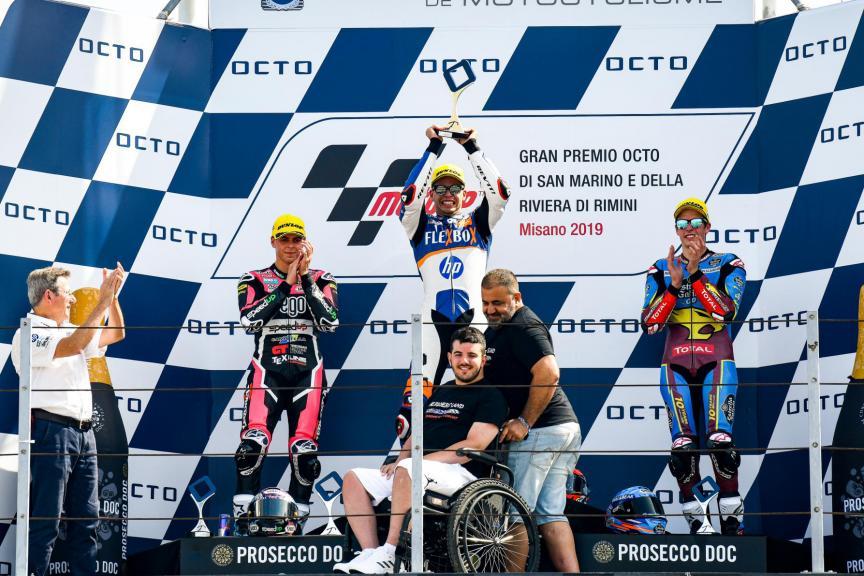 Bryan Toccaceli, podio Misano M2
