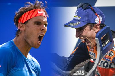 What connects Marquez to Nadal?