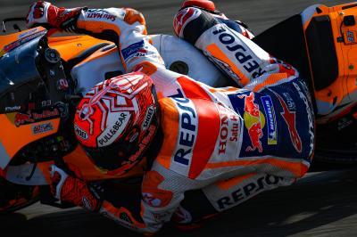 Márquez sienta cátedra para marcar terreno con las Yamaha