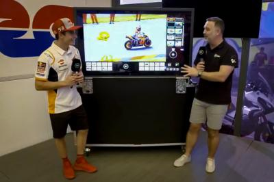 Pros and comms: Marquez chats to BT Sport in Aragon