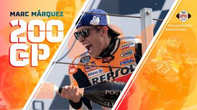 200 GP races! #MM93 lands in Aragón with: 7 World