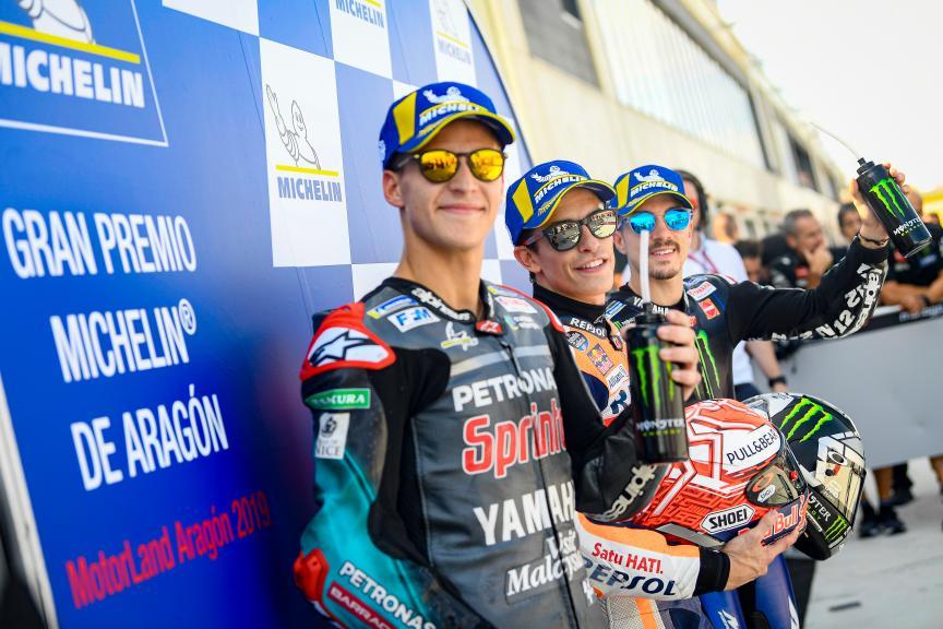 Marc Marquez, Fabio Quartararo, Maverick Viñales, Gran Premio Michelin® de Aragon
