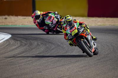 """Nothing to lose"" for Aprilia duo after a superb Saturday"