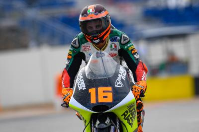 Migno remains fastest in Moto3™ as Lopez tops a sodden FP3