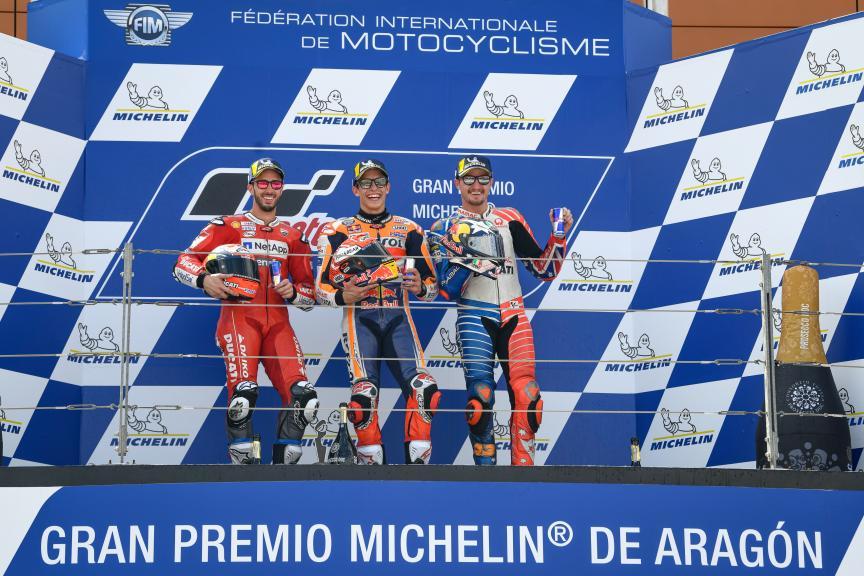 Marc Marquez, Andrea Dovizioso, Jack Miller, Gran Premio Michelin® de Aragon