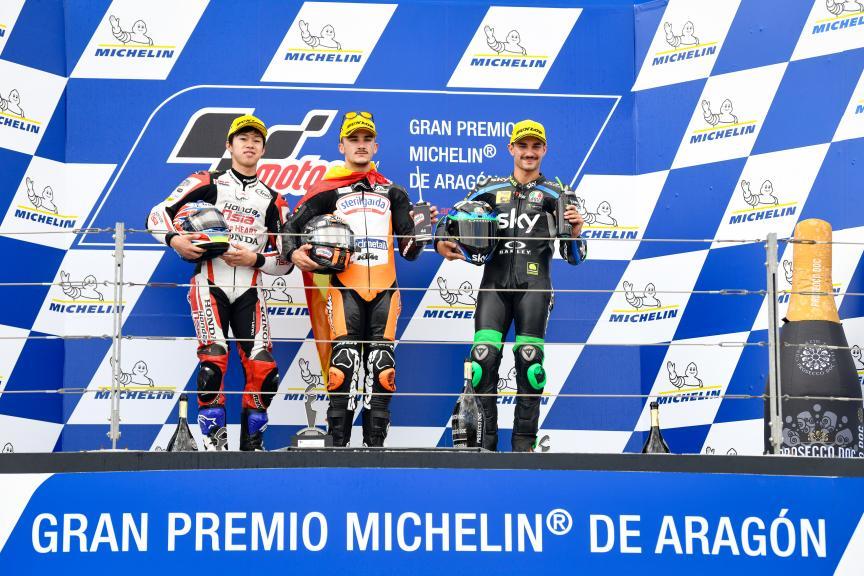 Aron Canet, Ai Ogura, Dennis Foggia, Gran Premio Michelin® de Aragon