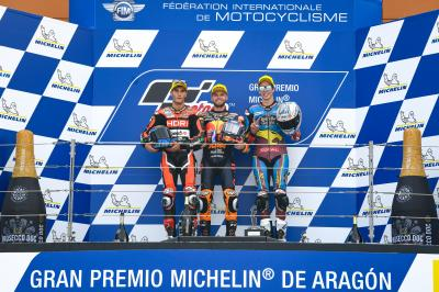 Sublime Binder wins in Aragon, Fernandez crashes