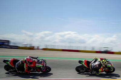 A good day out for Aprilia at MotorLand Aragon