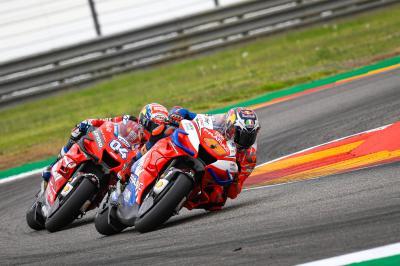 Double Ducati delight: Dovizioso, Miller earn Aragon podiums