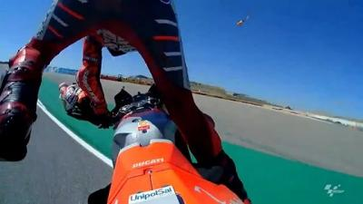 Anything can happen at the first corner in Aragon, as