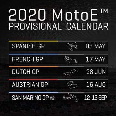 Calendrier Moto Gp 2020.Provisional 2020 Fim Enel Motoe World Cup Calendar Unveiled