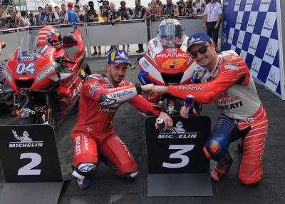 Two Desmosedici GP on the podium is not a bad