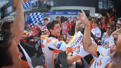 @marcmarquez93 before & after his GP number 200