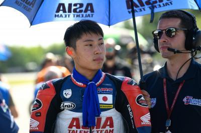 This is Yuki Kunii, the new Honda Team Asia rider in Moto3™